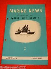 MARINE NEWS - APRIL 1962 VOL XVl # 4
