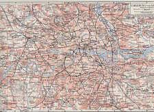 Londres wimbledon Kingston norwood ciudad plan de 1897 westham chelsea Hampstead