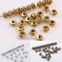 Wholesale 150Pcs Antique Silver/Golden/Bronze Flower Spacer Beads 5x3mm