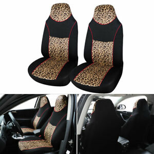 Universal Car SUV Front Seat Cover Protector Cushion Accessories Leopard Printed