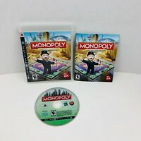 Monopoly Sony PlayStation 3 PS3 Video Game Complete With Manual
