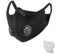 Washable Respiratory Valve Face Mask W/ Carbon 3 Filters-FAST Shipping US SELLER