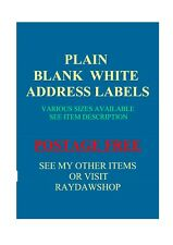 49 x 33mm  LARGE PLAIN WHITE ADDRESS LABELS (pack of 326)