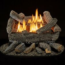 Bluegrass Living Vent Free Natural Gas Log Set 18in Traditional Oak - B18NR-UL1