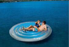 """H20GO 8ft 4"""" (254cm) Aqua Clear Blue ISOLA GALLEGGIANTE SEDILI fino a due persone"""