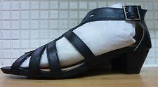 Pediconfort Womens Leather Peep Toe Sandal Shoes 5/38 BNWT* Black Uk Freepost