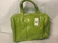 Maxximum Large Lime Green Tote Purse Bag $235 Style# FL735U