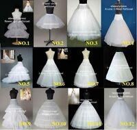 12 Styles Bridal /Flower Girl Hoop/Hoopless/Train Crinoline Petticoat Underskirt