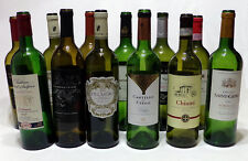 12 Clean Empty Bordeaux Style Wine Bottles - Green & Olive Shades - Cork Type
