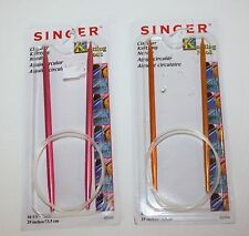 Singer Circular Knitting Nook needles 8 and 1 US 29 inches new Metal