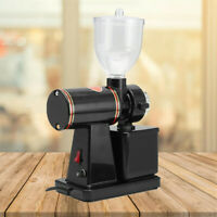 Black Commercial Coffee Grinder Electric Automatic Burr Mill Espresso Bean 100W