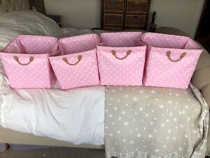 Lazzari Pink Storage Cubes/boxes