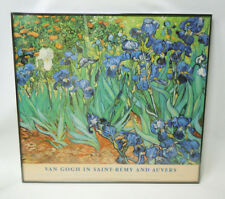 Irises by Vincent Van Gogh Print Glass Framed 32 x 30 Picture Wall Art Painting