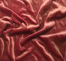 "Hand Painted Silk Velvet Fabric - Antique Gold on Fuchsia 45"" by the yard"