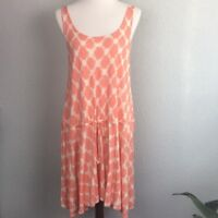 J. Crew Women's Coral Orange Cream Print Size M Dress Or Tunic