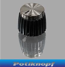 Orrecguitarparts Bottone-amp Knob-amskr-BK-CHR - orrecguitarparts Bottoni-ampknopf-perno rotella da