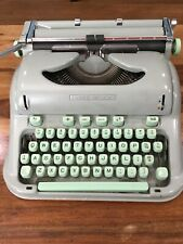 BEAUTIFUL 1960s HERMES 3000 Switzerland TYPEWRITER Sea foam Green Not Tested