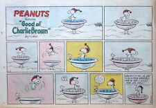 Peanuts by Charles Schulz - large half-page color Sunday comic - Feb. 18, 1968