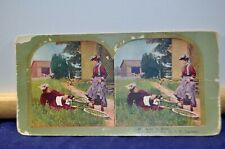Antique Stereoview Card - #66 Come to Grief - c.1898