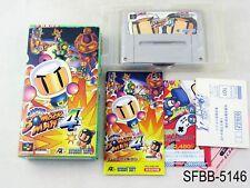 Complete Super Bomberman 4 SFC Famicom Japanese Import CIB Boxed SFC US Seller B