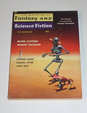 FANTASY AND SCIENCE FICTION Magazine DEC 1959   W/ CLIFTON & NATHAN & ASIMOV