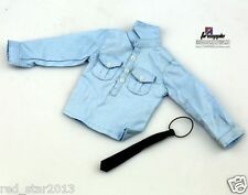 1/6th Scale Male Clothes Top Coat Staff Police Blue Shirt F 12'' Man Figure