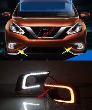 Front Fog LED DRL Running Daytime Driving for 2015-2018 Nissan Murano