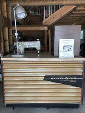 Meistergram M J100 Embroidering Machine W/ Orig Table, Manuel, & More!