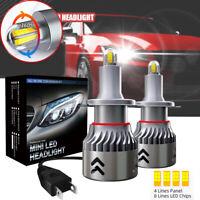 Ampoule H7 LED 55W Phare Feux de Voiture 20000LM 6000K 8 côtés Xénon Blanc Beam