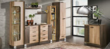 Wall Unit 8 Pieces with Display Case Rtv Shelf oak Living Room