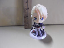 "#B90 Unknown Anime 3.5""in Big Head Blonde Figure Holding Rose"
