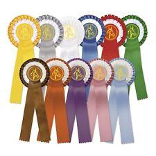 Reiten Schleifen Rosetten Pferdeschleifen Gelb Turnier Turnierschleifen Dressur Medaillen