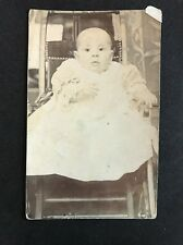 Vintage Postcard - RP Anonymous Child - #21 - Young Child Christening?