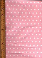 Spring Pink and White polka dots quilt Quilting Fabric by half yard