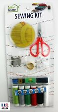 Pack Sewing Kit Measure Scissor Thimble Thread Needle Travel Set