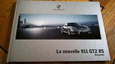 Brochure  PORSCHE 911 GT2 RS 01/2010  : catalogue cartonné 40 p. FR