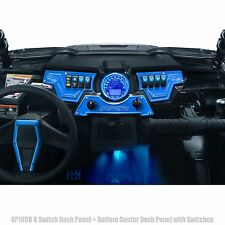 RZR XP1000 UTV 8 Switch 3 Piece Dash Panel with 6 Switches Blue Powdercoated