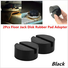 2xBlack Universal Floor Jack Disk Rubber Pad Adapter for Pinch Weld Side JACKPAD