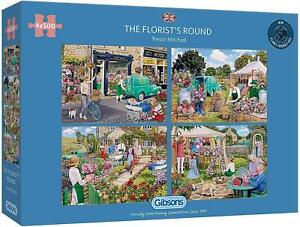 Gibsons The Florist's Round Jigsaw Puzzle (4 x 500 Pieces)