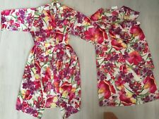 BNWT HOUSE OF BAIN SATIN Twin Set  Caftan Nuisette   Wrap Robe Robe Taille 06da134bed1