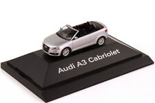 1:87 AUDI A3 Cabriolet 8P Ice Silver Silver Silver - Dealer Edition OEM Herpa