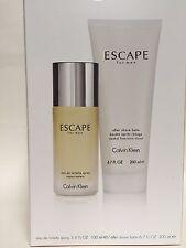 ESCAPE By CALVIN KLEIN GIFT SET MEN COLOGNE 3.4 OZ + After Shave 6.8 OZ NIB