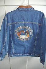 Monty Roberts The Man Who Listens to Horses Embroidered Mens SM Denim Jacket/NWT