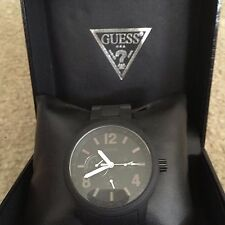 Guess Mens Multifunction Black Watch New in Box