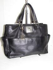 DKNY AUTH Vintage Black Pebbled Leather Slouchy Tote Handbag
