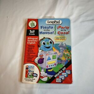 Leap Frog LeapPad 1st Grade Bilingual English Spanish Fiesta in the House Sealed