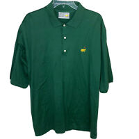 Augusta National Golf Shop Mens Polo Shirt Green Short Sleeve Size XL