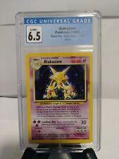 Pokemon - Alakazam 1/102 Base Set Unlimited 1999 Pokemon Card CGC Graded 6.5