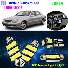 19Pc 5050 HID White 6000K Interior Light Kit LED Fit 1999-2005 Benz S-Class W220