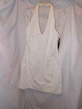 NEW Jones of New York Signature White Keyhole Sea Island Halter Dress, Size 16